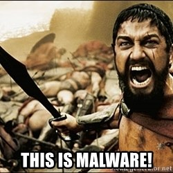 This Is Sparta Meme - THIS IS MALWARE!