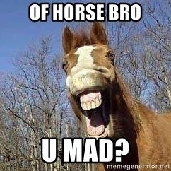 Horse - of h0rse bro u mad?