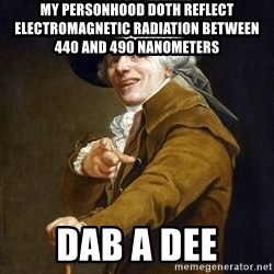 Joseph Ducreaux - My personhood doth reflect electromagnetic radiation between 440 and 490 nanometers dab a dee
