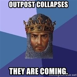 Age Of Empires - Outpost collapses They are coming.