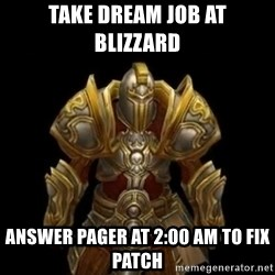 Kormac plain background - take dream job at blizzard answer pager at 2:00 am to fix patch