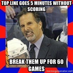 Torts Logic - Top line goes 5 minutes without scoring break them up for 60 games