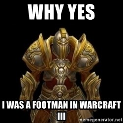 Kormac plain background - Why yes i was a footman in warcraft III