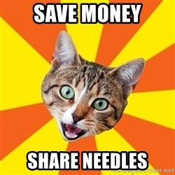 Bad Advice Cat - Save money share needles