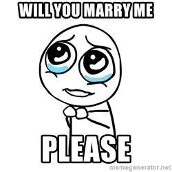 pleaseguy  - will you Marry Me please