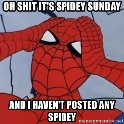 Hungover Spiderman - oh shit it's spidey sunday and i haven't posted any spidey
