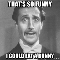 so dumb - THAT'S SO FUNNY I COULD EAT A BUNNY