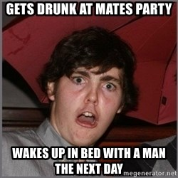 Shocked Dylan - gets drunk at mates party wakes up in bed with a man the next day