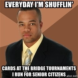 Successful Black Man - Everyday i'm shufflin' cards at the bridge tournaments i run for senior citizens