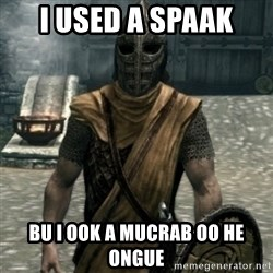 skyrim whiterun guard - I used a spaak bu I ook a mucrab oo he ongue