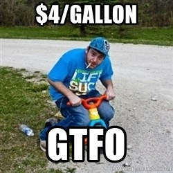 Thug Life on a Trike - $4/gallon gtfo
