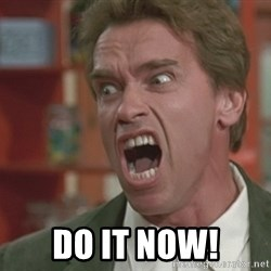 Arnold -  DO IT NOW!