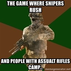 Call Of Duty Addict - The game where snipers rush and people with assualt rifles camp...