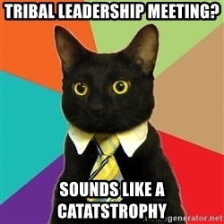 Business Cat - tRIBAL LEADERSHIP MEETING? soUNDS LIKE A CATATSTROPHY