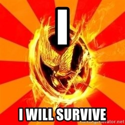 Typical fan of the hunger games - I i will survive