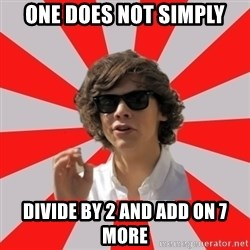 One Does Not Simply Harry S. - one does not simply divide by 2 and add on 7 more