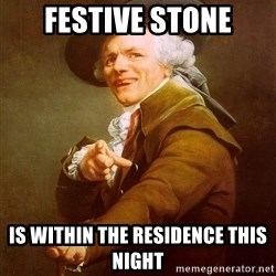 Joseph Ducreux - festive stone is within the residence this night