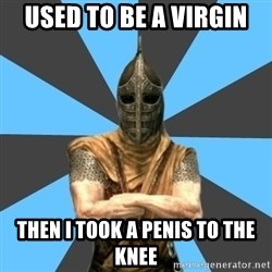 Unfortunate Guard - used to be a virgin then i took a penis to the knee