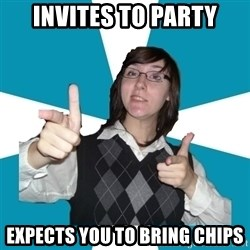 Cool Scottish Girl - Invites to party expects you to bring chips