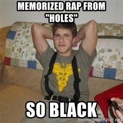 "Jake Bell: Stoner - memorized rap from ""holes"" so black"