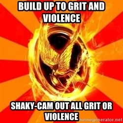 Typical fan of the hunger games - BUILD UP TO GRIT AND VIOLENCE Shaky-CAM OUT ALL Grit or violence