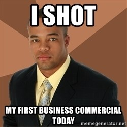 Successful Black Man - i shot my first business COMMERCIAL today