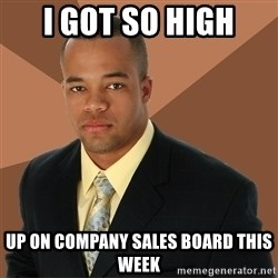 Successful Black Man - i got so high up on company sales board this week