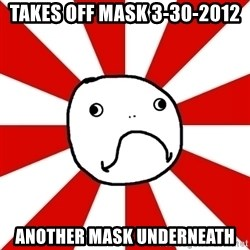 Shame Nob - Takes off mask 3-30-2012 another mask underneath