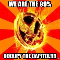 Typical fan of the hunger games - We are the 99% Occupy the Capitol!!!!