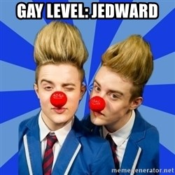 Jedward  - Gay level: jedward