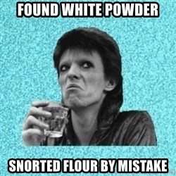 Disturbed Bowie - FOUND WHITE POWDER SNORTED FLOUR BY MISTAKE