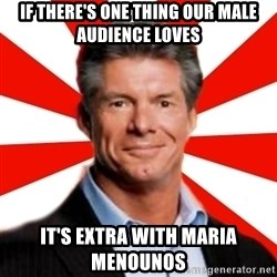 Vince McMahon Logic - if there's one thing our male audience loves it's extra with maria menounos