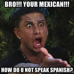 Pauly D - BRO!!! Your mexican!!! how do u not speak spanish?
