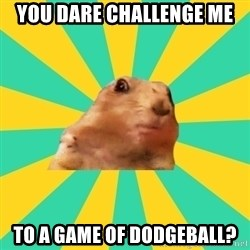 Dramatic Chipmunk - you dare challenge me to a game of dodgeball?
