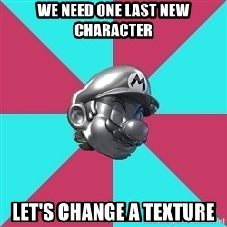 Metal Mario MK7 - we need one last new character let's change a texture
