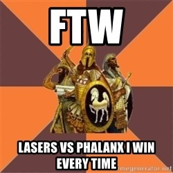 Age of Empires '97 - ftw lasers vs phalanx i win every time