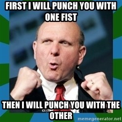 Barmy Steve Ballmer - First I will punch you with one fist then I will punch you with the other