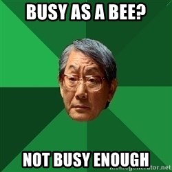 High Expectations Asian Father - busy as a bee? not busy enough