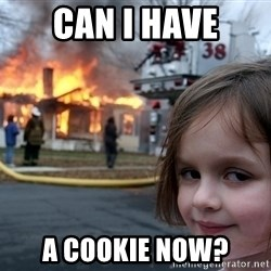 Disaster Girl - can i have a cookie now?