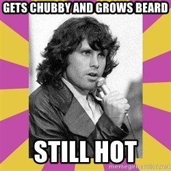 Jim Morrison - Gets chubby and grows beard still hot