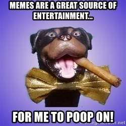 Triumph the Insult Comic Dawg - memes are a great source of entertainment... For me to poop on!