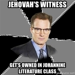 tipical human - Jehovah's Witness get's owned in Johannine Literature class