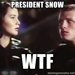 Hunger Games - Katniss Everdeen - PRESIDENT SNOW WTF