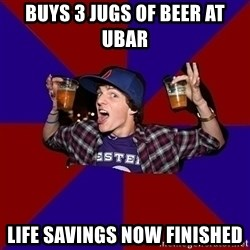 Sunny Student - BUYS 3 JUGS OF BEER AT UBAR LIFE SAVINGS NOW FINISHED