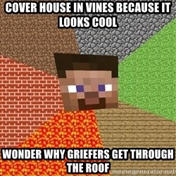Minecraft Guy - Cover house in vines because it looks cool Wonder why griefers get through the roof