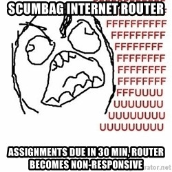 Fffuuu - Scumbag Internet Router Assignments due in 30 min, Router becomes non-responsive