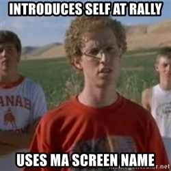 Napoleon Moped Grom - INTRODUCES SELF AT RALLY USES MA SCREEN NAME