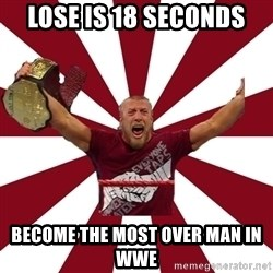 Daniel Bryan - Lose is 18 seconds Become the most over man in wwe