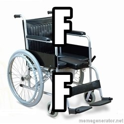 wheelchair watchout - f f
