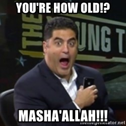 Surprised Cenk - you're how old!? masha'allah!!!